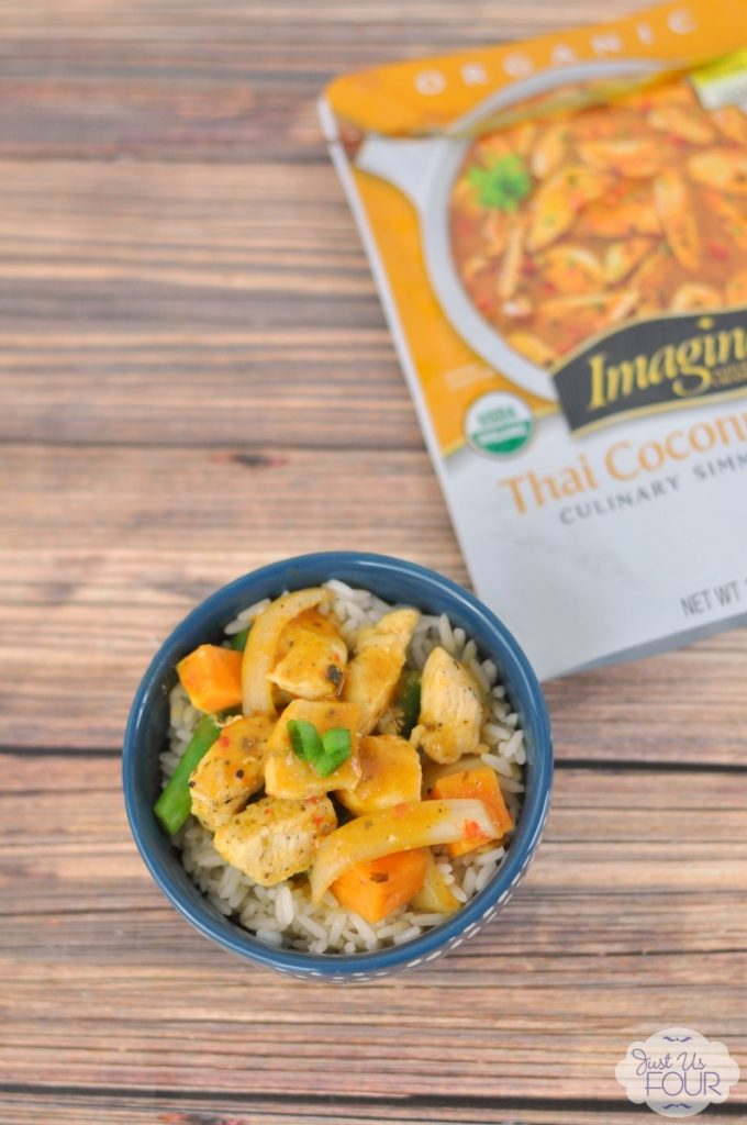 Easy weeknight coconut curry recipe that is done in 15 minutes!