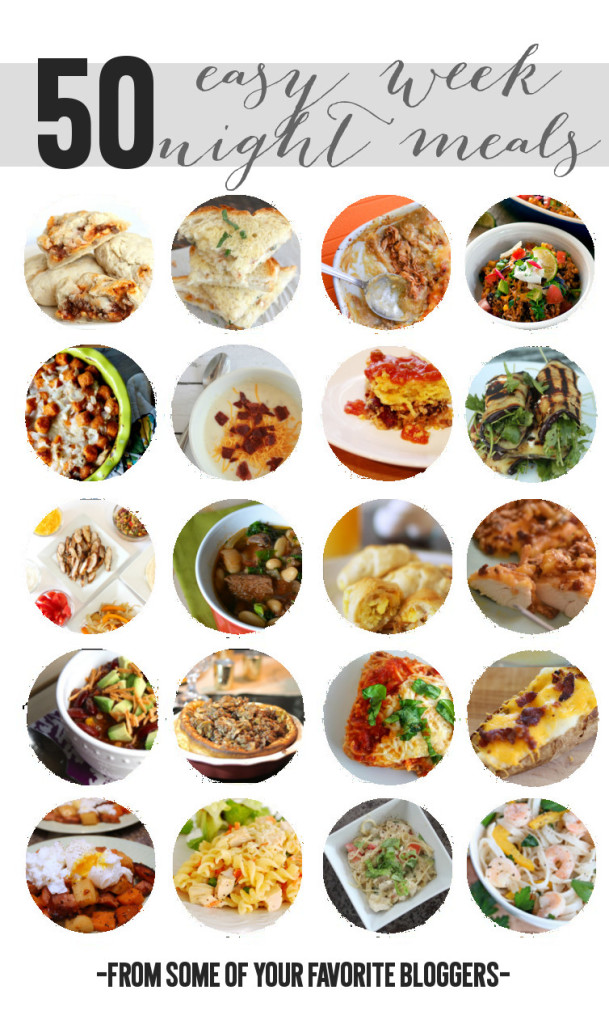 50 Amazing Weeknight Meal Ideas to Try