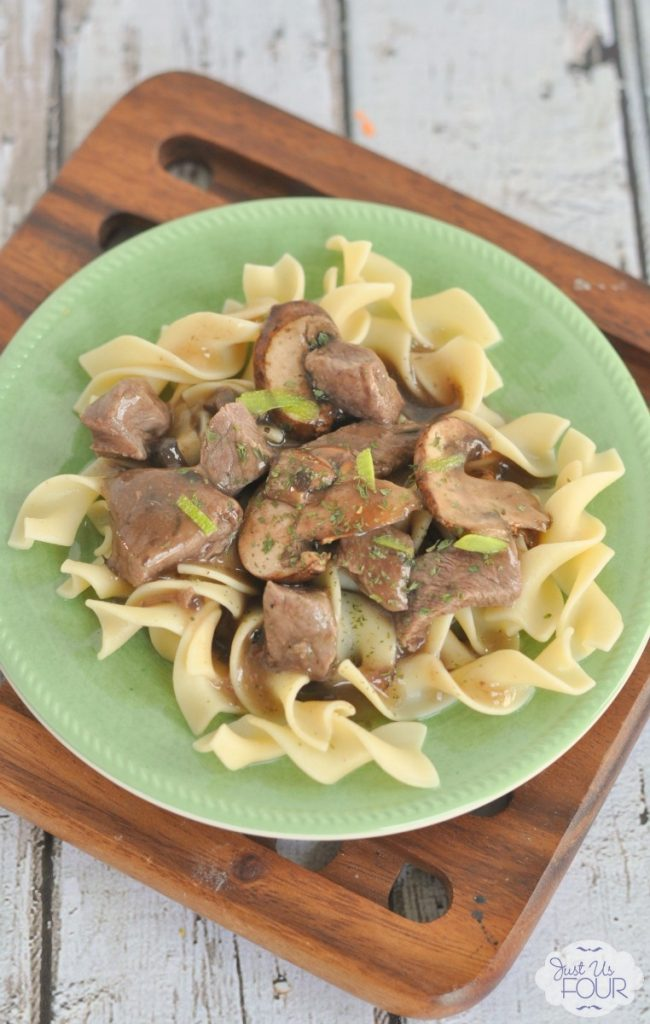 Simple and easy recipe for mushroom and red wine beef.
