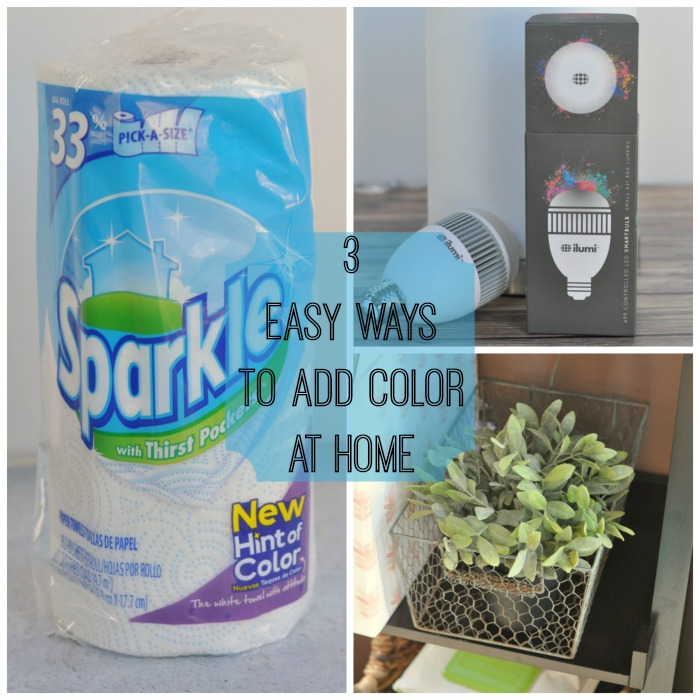 Three Easy Ways to Add Color to Your Home #HintofColor #SparkleTowels