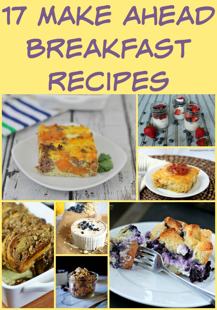 17 make ahead breakfast recipes that are perfect for Christmas morning and beyond.