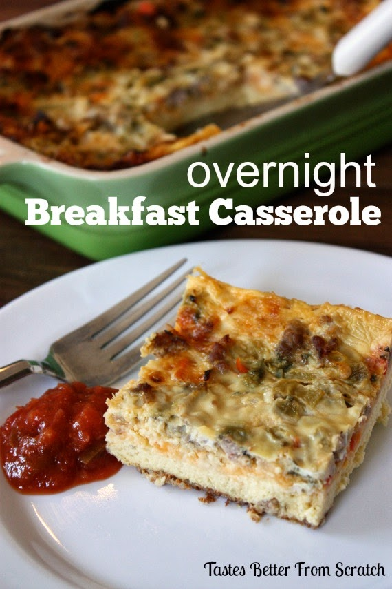 20 - Tastes Better from Scratch - Overnight Sausage and Egg Breakfast Casserole