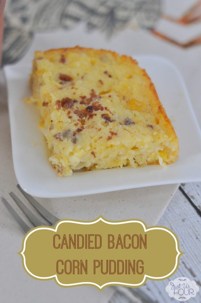 The perfect Thanksgiving side dish: candied bacon corn pudding {casserole}