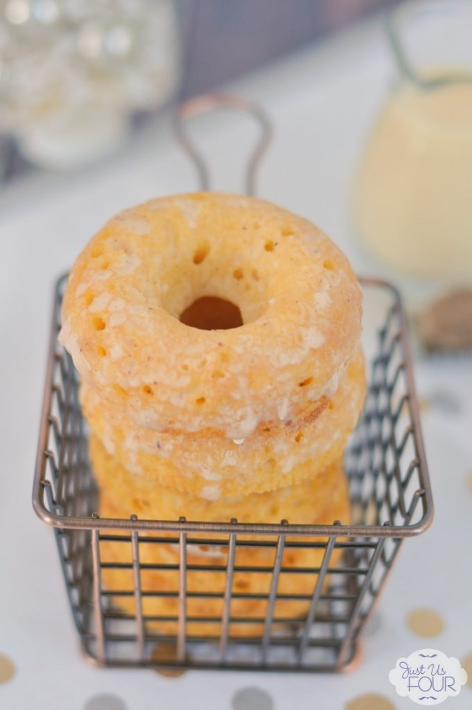 I am buying a donut pan stat so I can make these baked eggnog donuts.