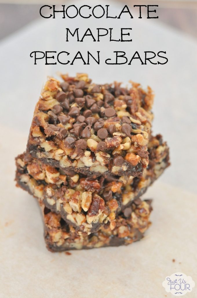 The perfect substitute for traditional pecan pie! Chocolate maple pecan bars are amazing and so delicious.