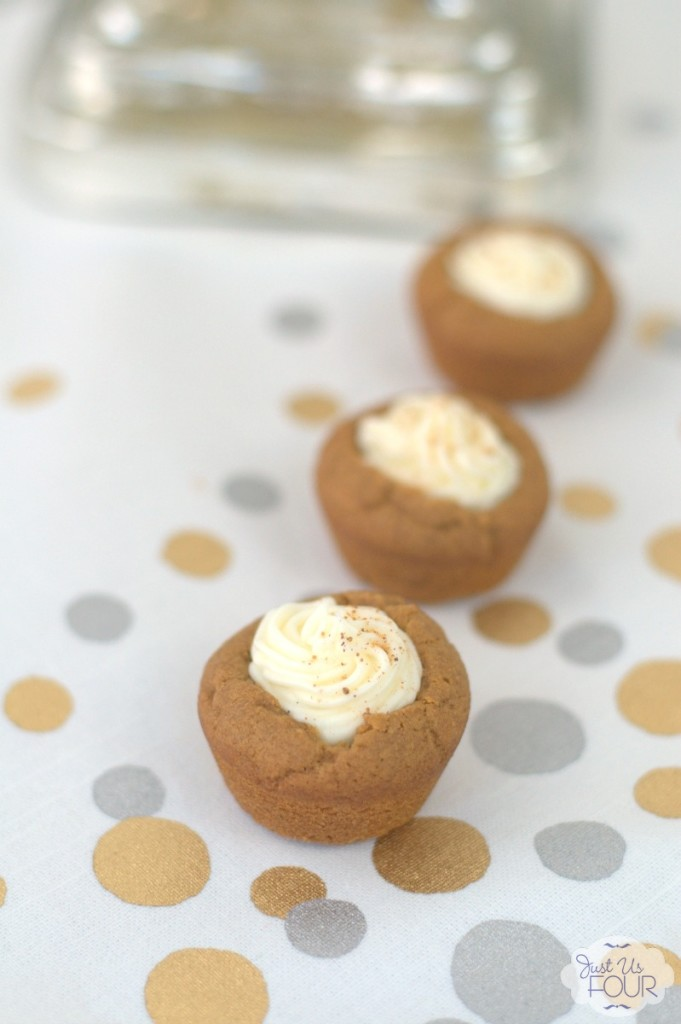A one bite dessert that is perfect for every day or even a party! Love the idea of these gingerbread cookie cups.