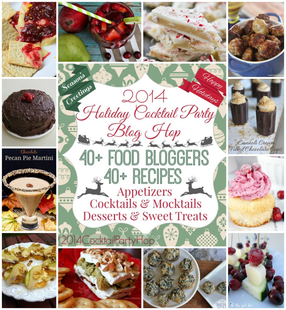 Over 40 delicious recipes that are perfect for a holiday cocktail party!
