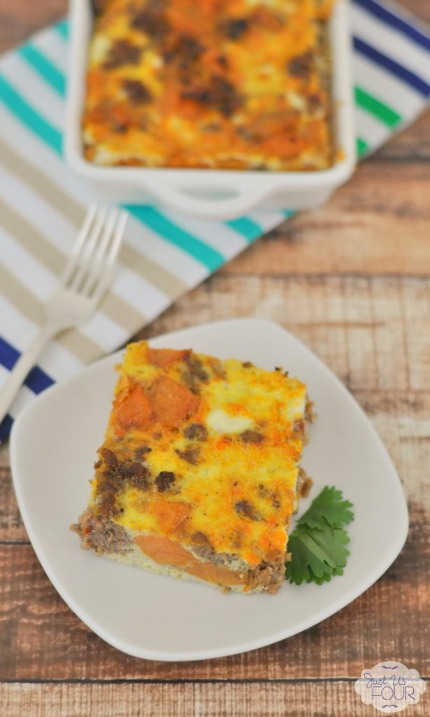 The perfect overnight breakfast casserole and it is healthy too!