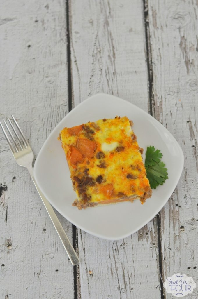 Wake up to a delicious meal with this paleo overnight breakfast casserole recipe!