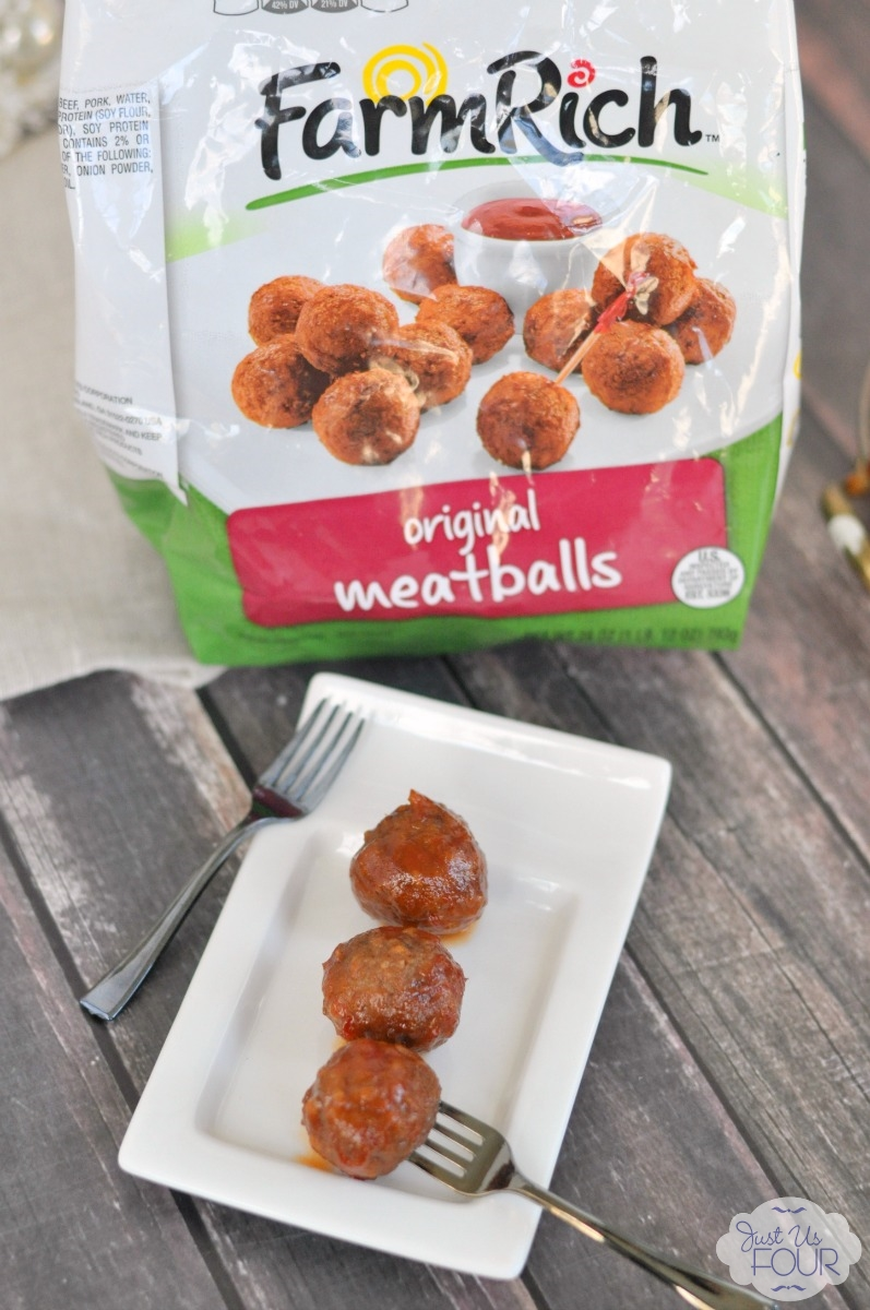 Spicy Apricot Meatballs are made super easy thanks to premade meatballs.