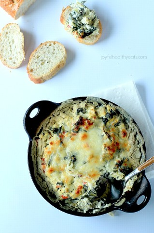 03 - Joyful Healthy Eats - Kale Spinach Artichoke Dip