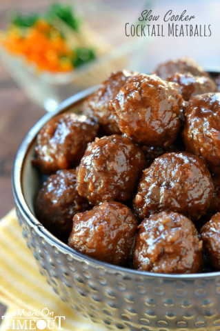 14 - Mom on Time Out - Slow Cooker Cocktail Meatballs