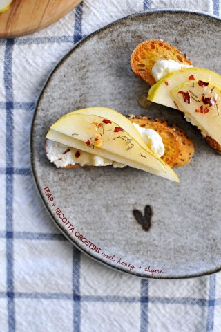 15 - Pig and Quill - Pear Ricotta Crostini