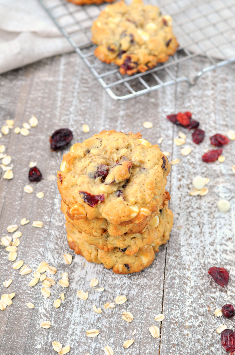 Cranberry Oatmeal White Chocolate Cookies
