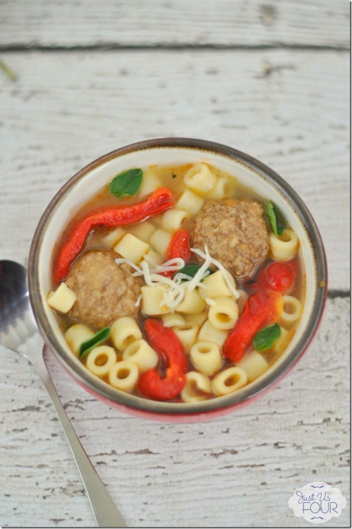 Delicious and Easy Italian Meatball Soup with Peppers