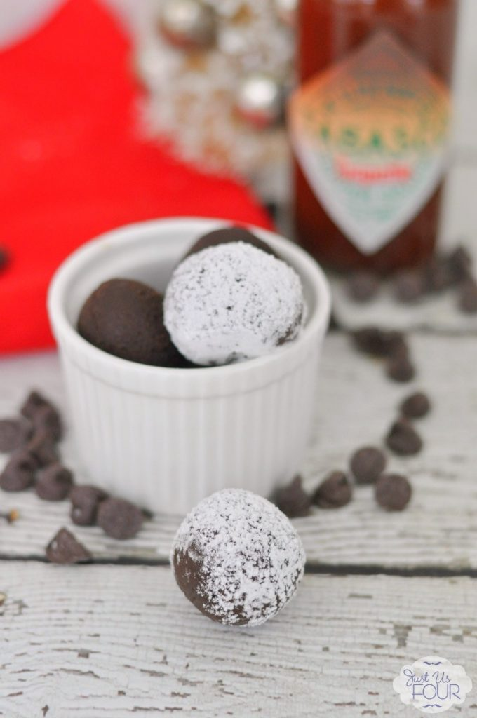 The perfect no bake holiday dessert: chipotle chocolate truffles