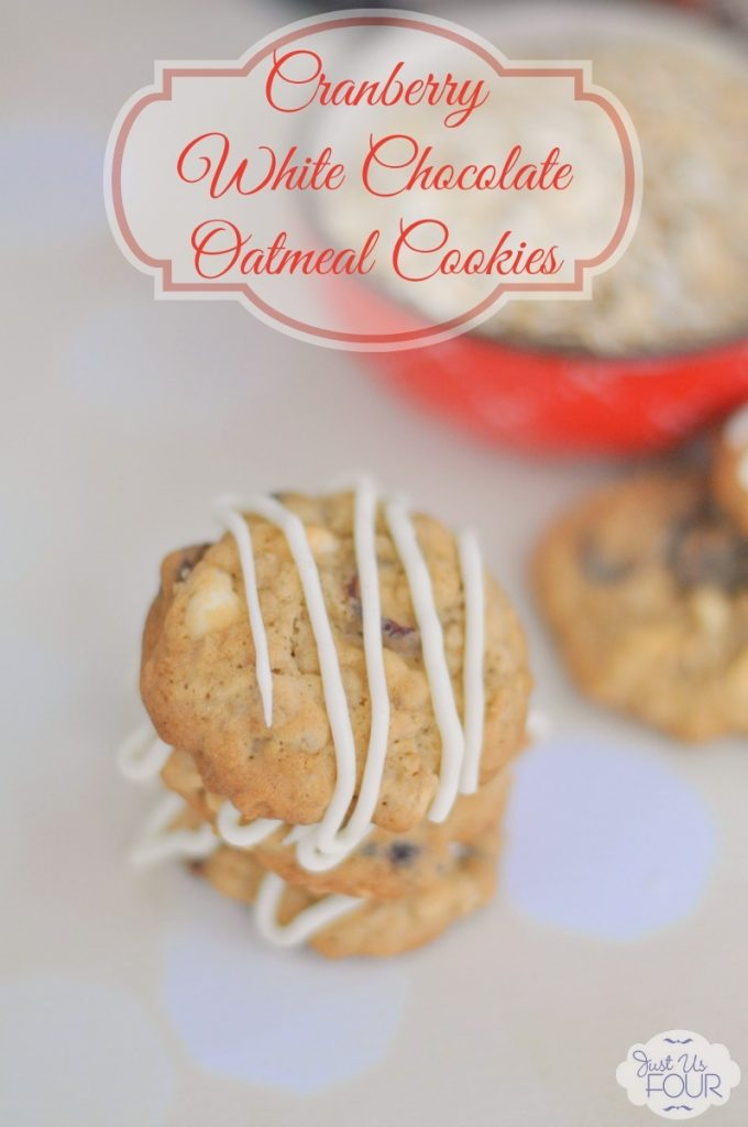 White Chocolate Cranberry Oatmeal Cookies are perfect for the holidays.