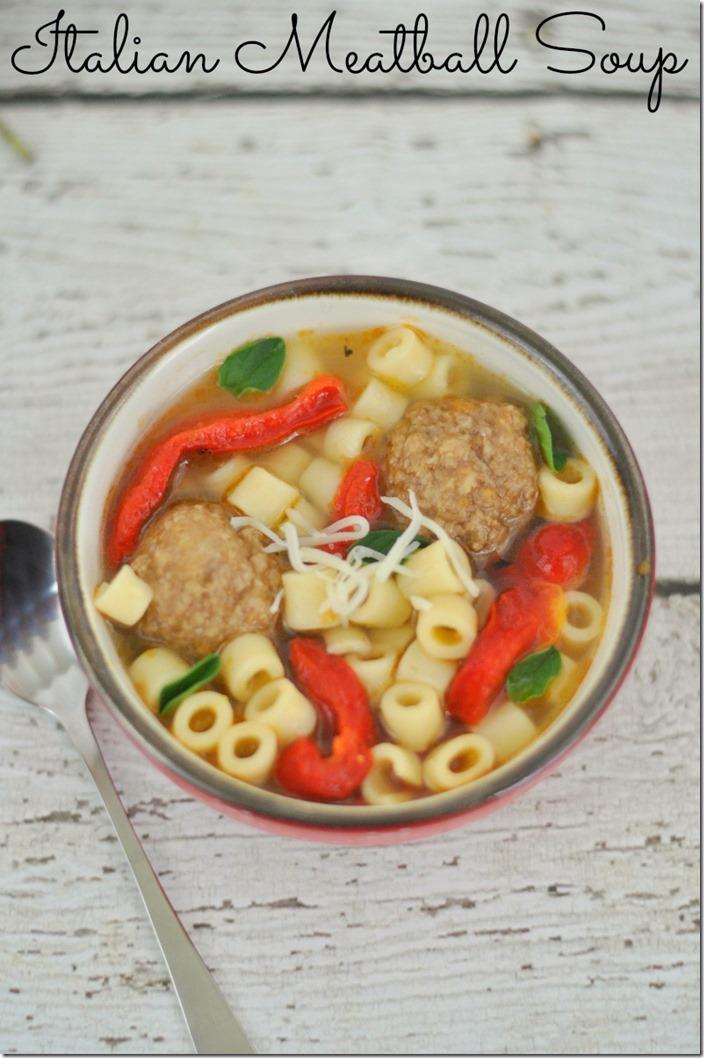 Easy Italian Meatball Soup