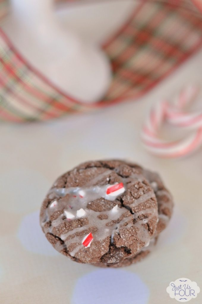 Peppermint and chocolate make the perfect Christmas cookie! These start with cake mix so they are so easy.