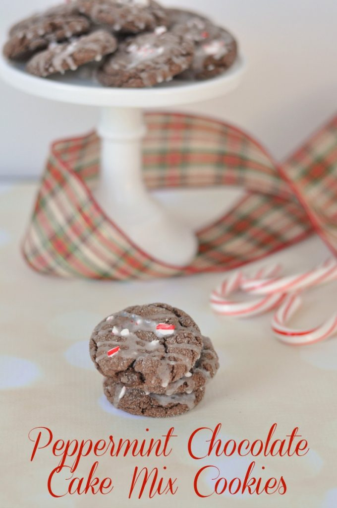 Peppermint chocolate cake mix cookies that are so easy to make but ridiculously delicious.