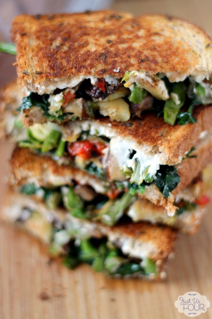 Roasted Veggie and Goat Cheese Grilled Cheese