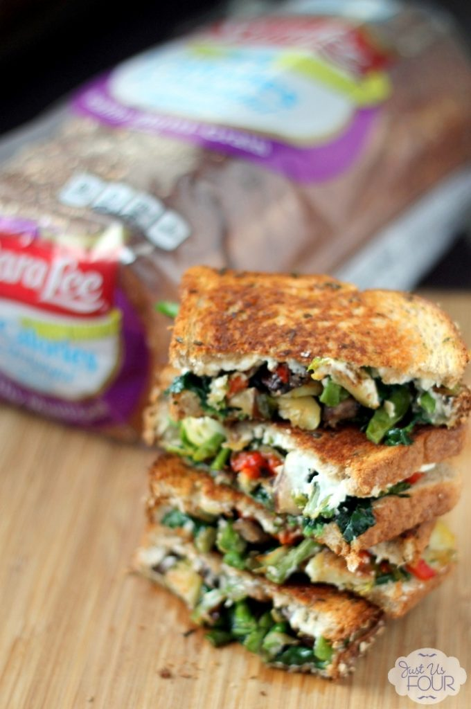 So delicious...roasted vegetable grilled cheese sandwich
