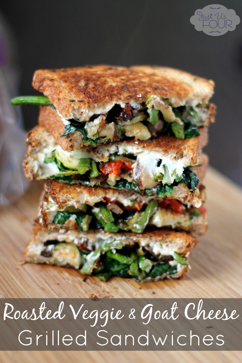Roasted Veggie & Goat Cheese Grilled Sandwiches