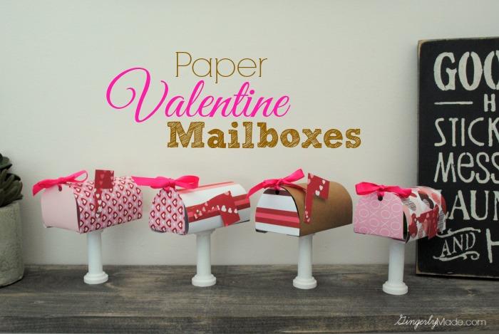 Paper Valentine Mailboxes