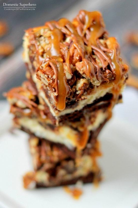 Turtle Cheesecake Brownies Recipe