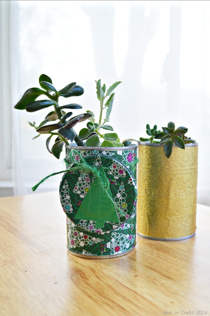 05 - Mad in Crafts - Duck Tape Succelent Planter