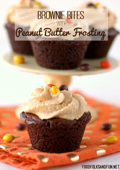 11 - Food Folks and FUn - Brownie Bites with PB Frosting