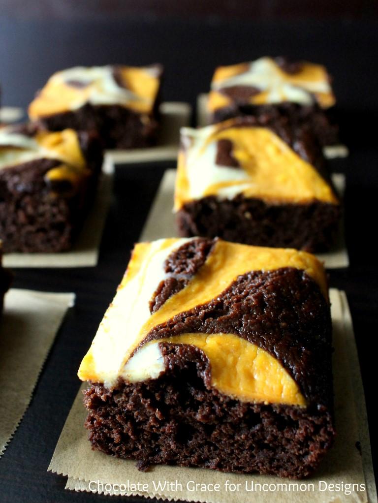 15 - Uncommon Designs - Pumpkin Swirl Brownies