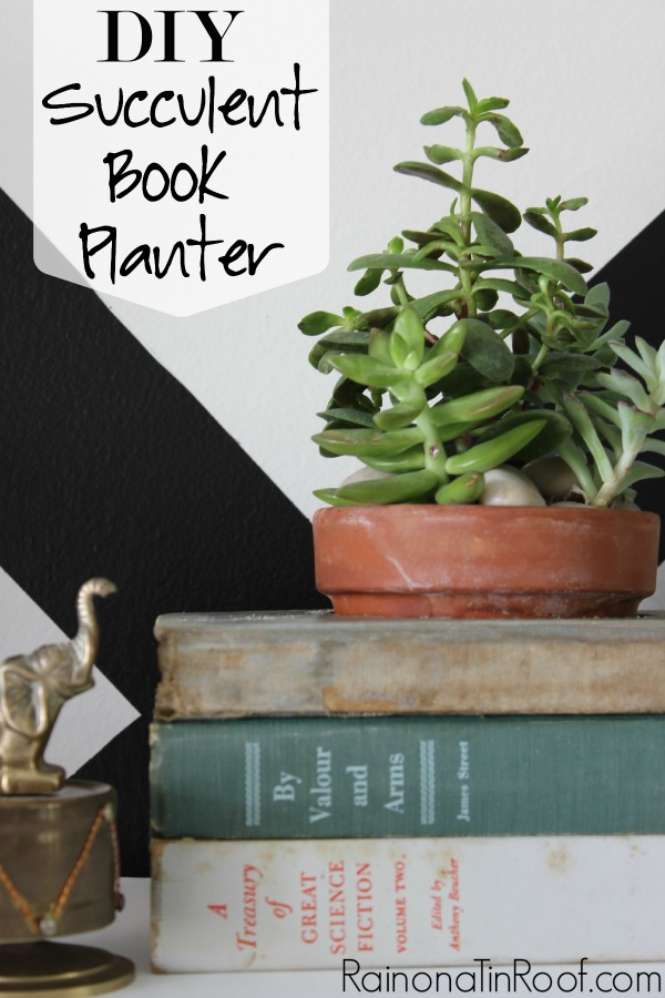 26 - Rain on a Tin Roof - Succulent Book Planter