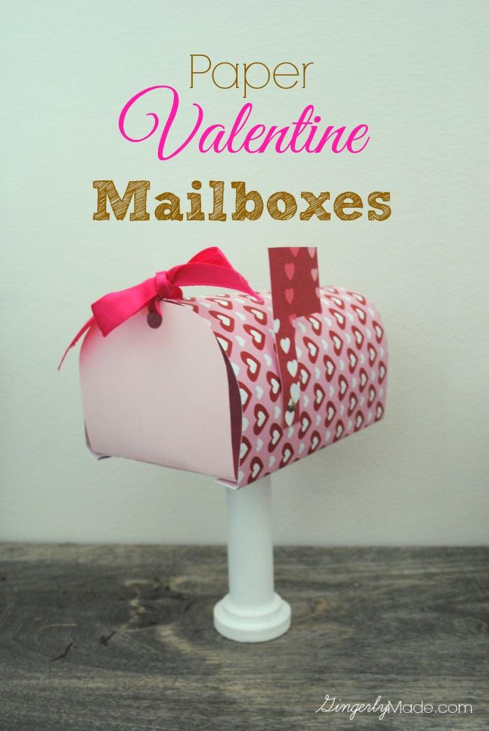 Paper Valentine Mailbox