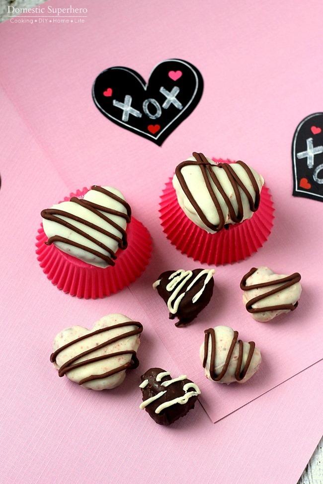 Red Velvet Oreo Truffle Hearts Recipe