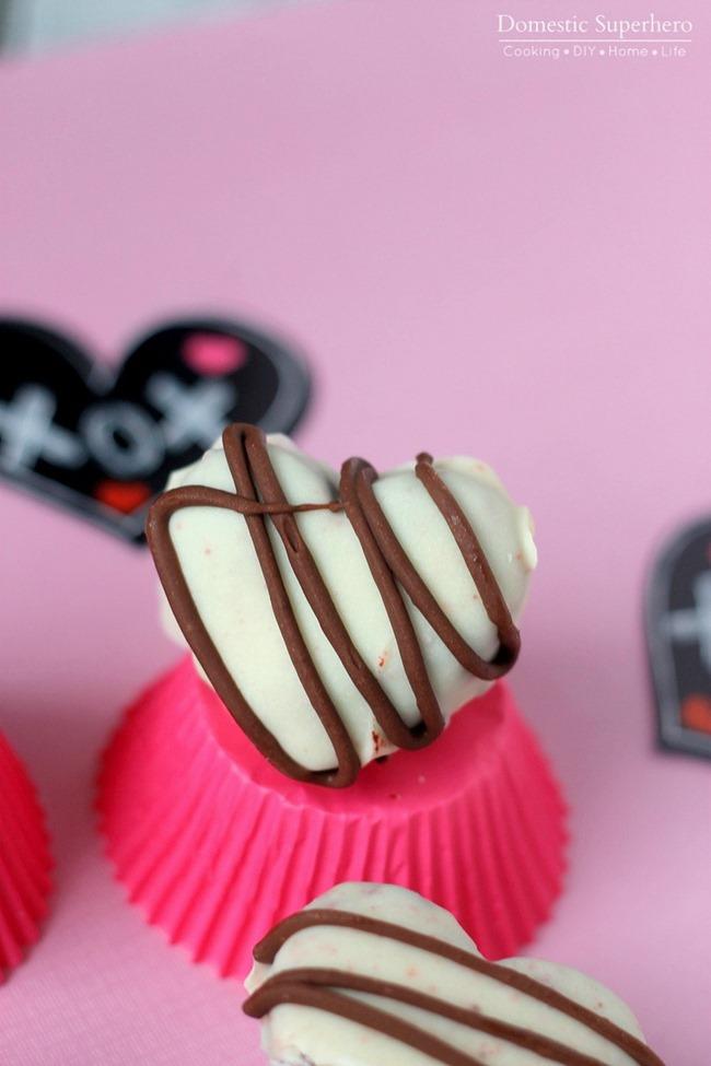 Red Velvet Oreo Truffle Hearts - Perfect for Valentines Day Dessert!