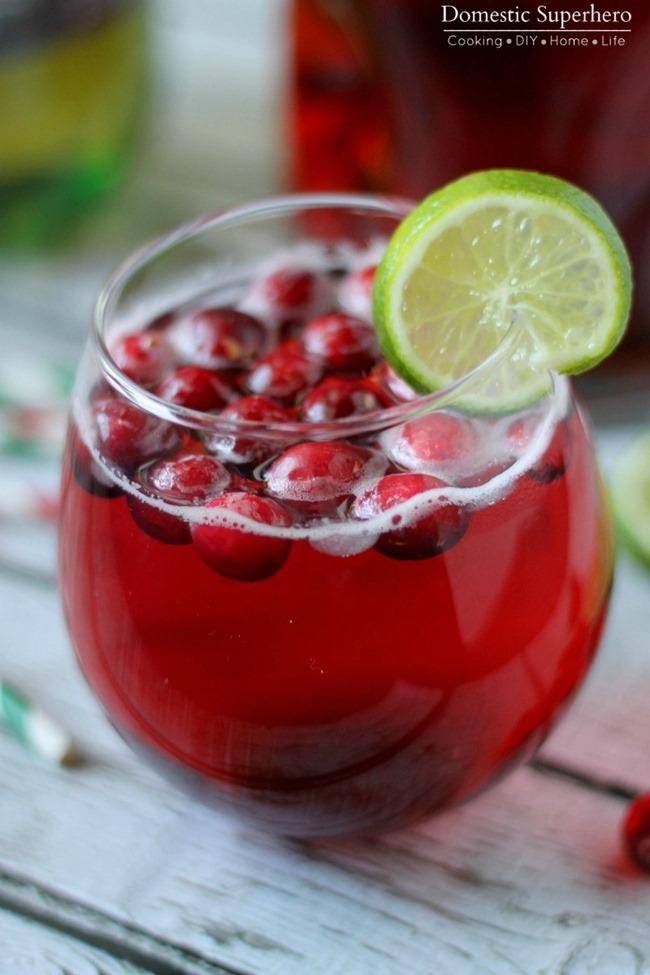 04 - Domestic Superhero - Cranberry Lime Mocktail