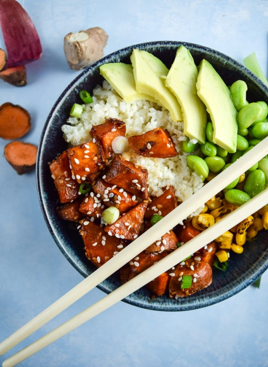 05 - Potluck Oh My Veggies - Teriyaki Cauliflower Rice Bowl