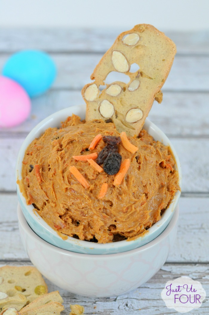 Three Ingredient Carrot Cake Dip