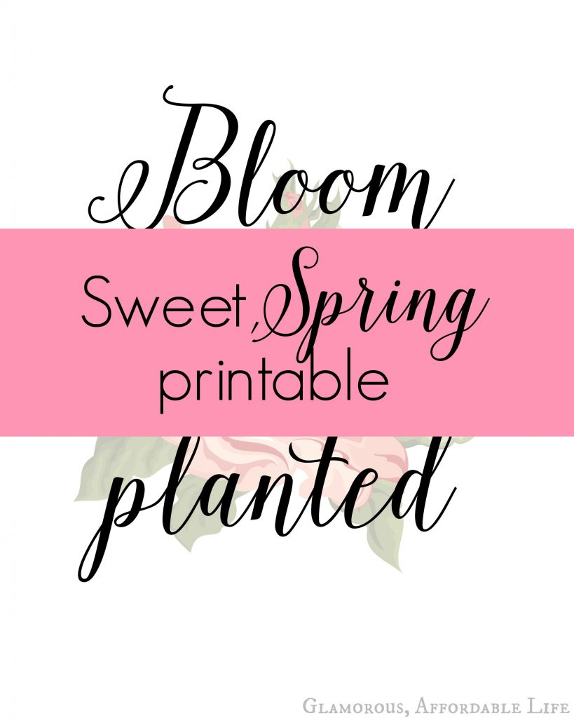 Spring bloom printable