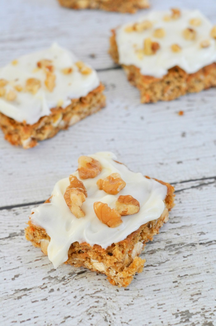 Carrot Cake Cookie Bars from Just Us Four