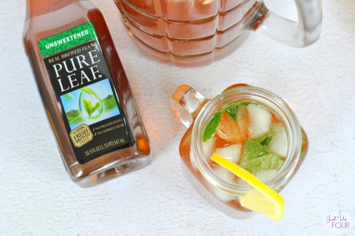 Lemon Ginger Iced Tea Mojito - Just Us Four