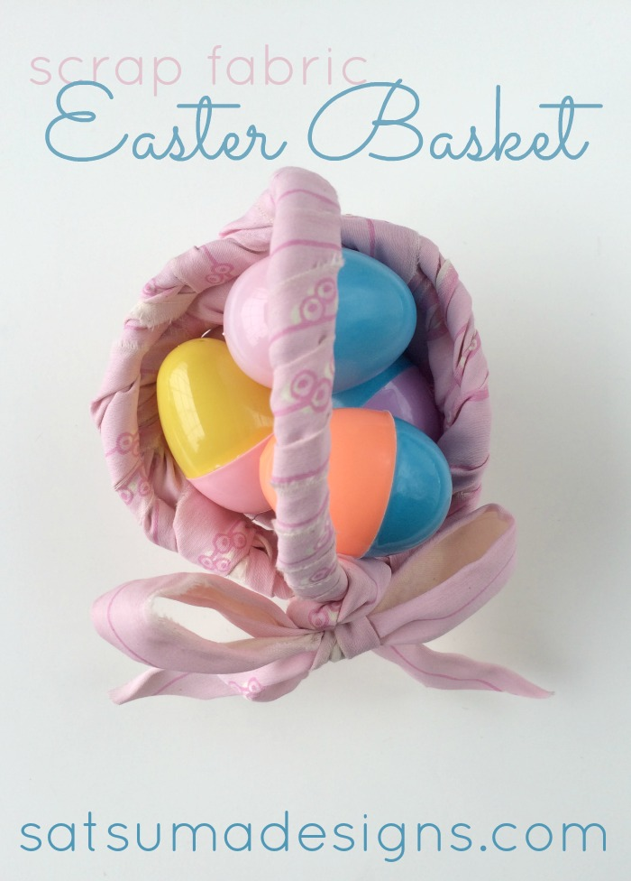 scrap fabric easter basket pin
