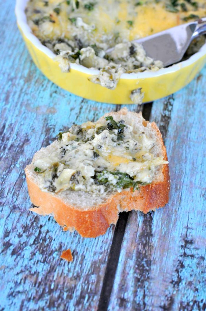 Triple Cheese Kale Dip
