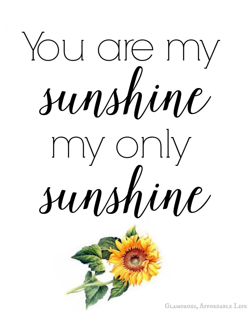 graphic regarding You Are My Sunshine Free Printable known as Oneself are my sun!