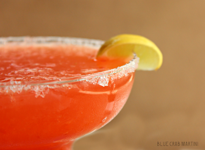 Delicious Strawberry Key Lime Margarita | Blue Crab Martini