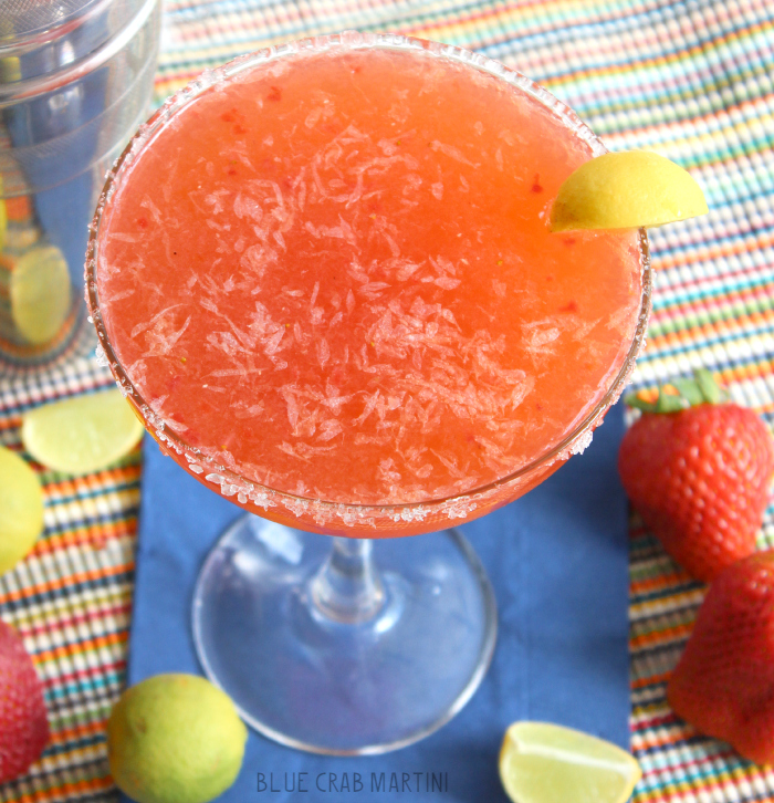 Strawberry Key Lime Margarita | Blue Crab Martini