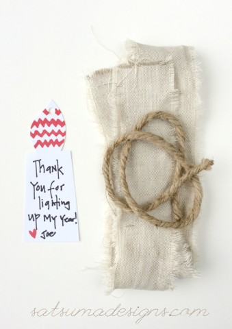 teacher appreciation gift wrap and note