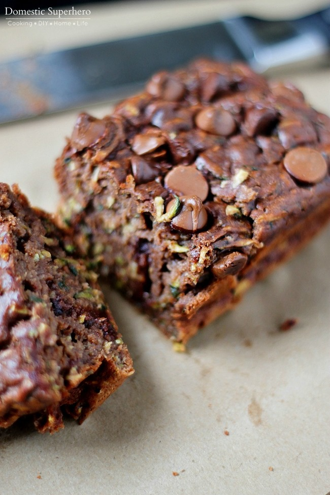 I love this Double Chocolate Zucchini bread because it could be dessert or breakfast. It is packed with zucchini, but you would never know it while you are eating it. This is perfect for those little picky eaters who refuse to touch anything green