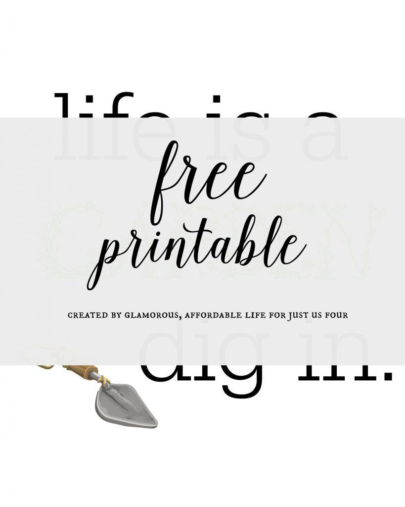 garden printable